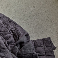 Stonewashed Linen Quilt  - Charcoal