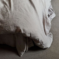 Stonewashed Linen Duvet Cover - Sand
