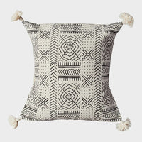 Handmade Throw Pillow Covers - 18x18 - Black & White