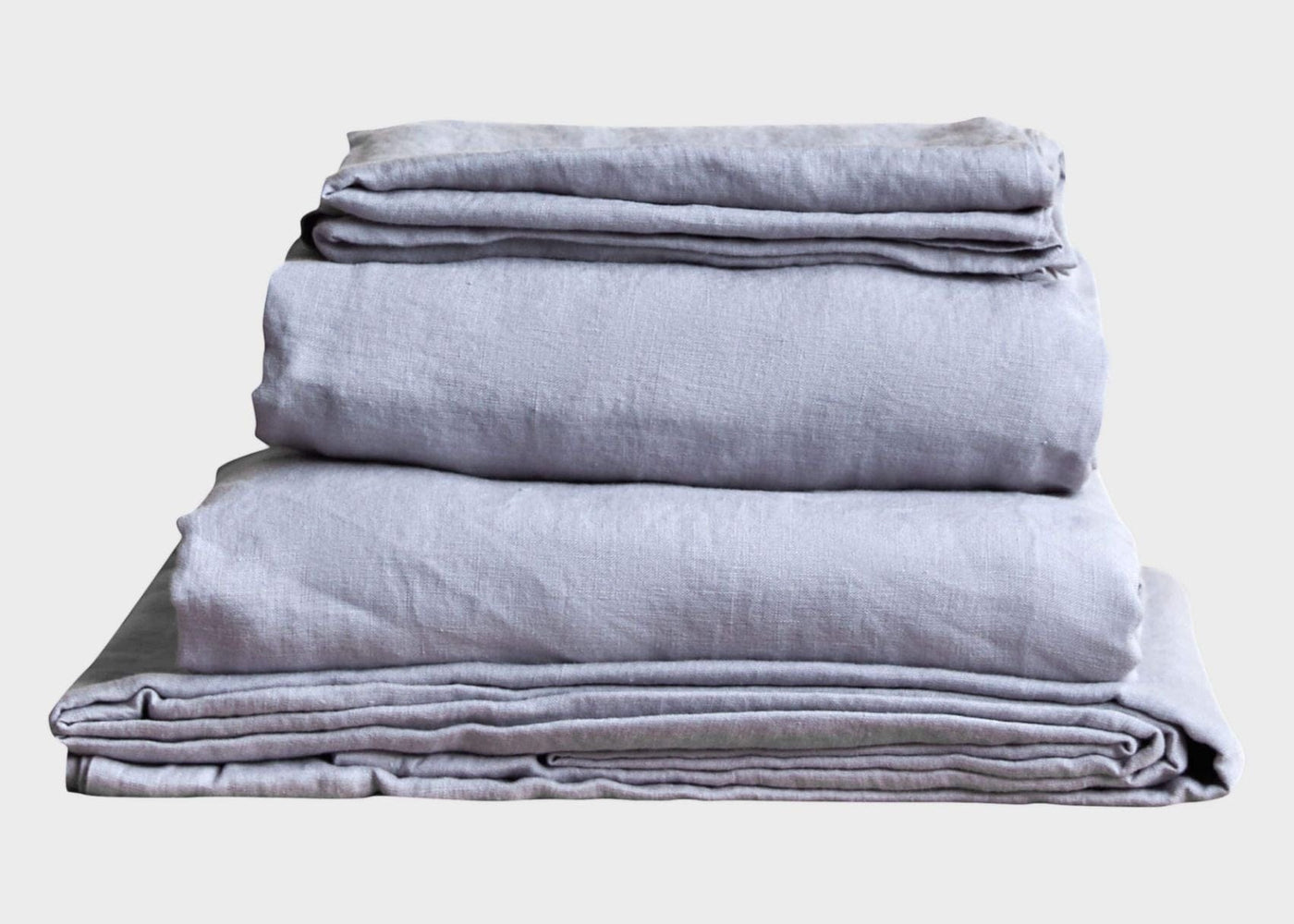 Stonewashed Linen Sheet set - Light Grey