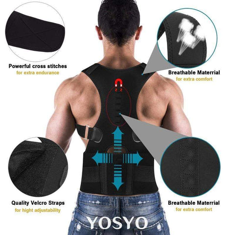 Image of Back Brace Posture Corrector | Best Fully Adjustable Support Brace | Improves Posture and Provides Lumbar Support | For Lower and Upper Back Pain | Men and Women - homeoftrendz
