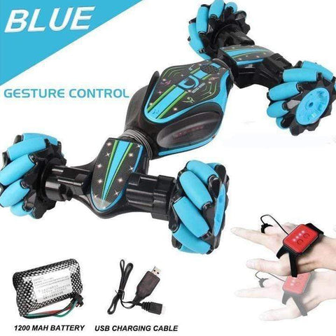Image of Gesture Controlled Double-Sided Remote Control Car - Homeoftrendz