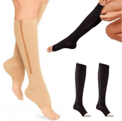 Image of Pressure exposed toe compression socks - homeoftrendz