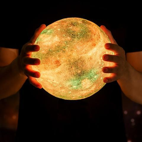 Image of Galaxy Moon Lamp - Homeoftrendz