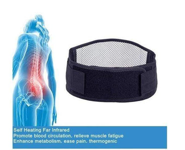 Tourmaline Self Heating Infrared Magnetic Therapy Back Support Brace Lumbar Spine Correction Belt - homeoftrendz