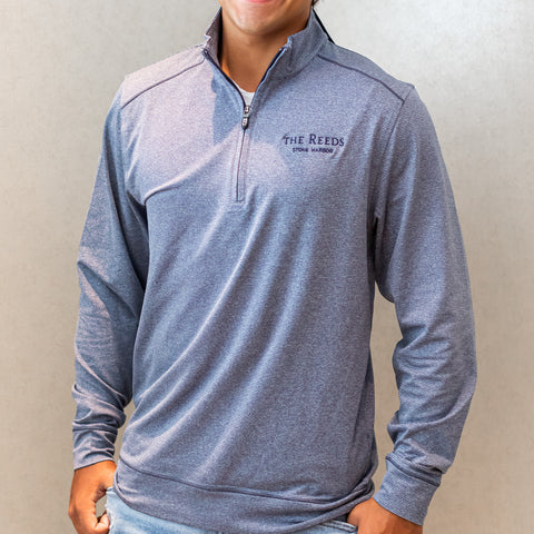 Men's Mock Neck Half Zip
