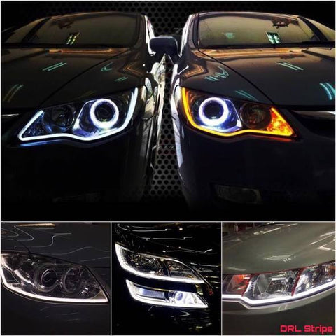 (Last Day Promotion!!! 60% off) - Flexible DRL LED Night & Daytime Running Light Strip (No Disassembling Needed)