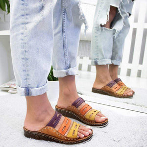 Three-color Stitching Women's Summer Sandals