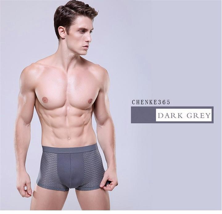 2019 Breathable Ice Silk Solid Men Cool Underpants- 4 colors