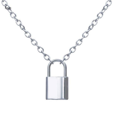Punk Chain with Lock Necklace for Women Men Padlock Pendant Necklace 2020 Statement Gothic Cool Collier Femme Fashion Jewelry