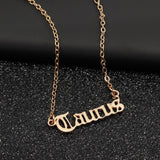Fashion Creativity European Necklace Jewelry Girls Twelve Constellation Alloy Zodiac English Letter Alphabet Necklaces For Women