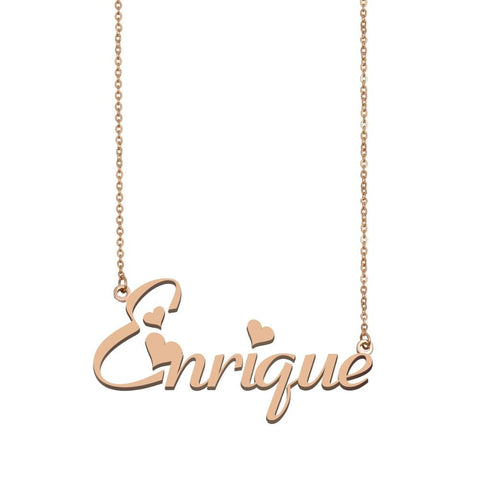 Enrique Name Necklace , Custom Name Necklace for Women Girls Best Friends Birthday Wedding Christmas Mother Days Gift