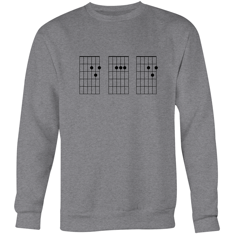 Guitar Chord DAD - Crew Neck Jumper Sweatshirt