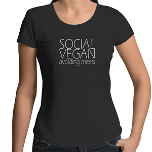 Social Vegan - Womens Scoop Neck T-Shirt