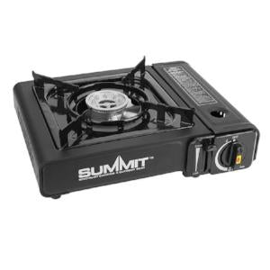 Summit portable gas cooker compact with carry case