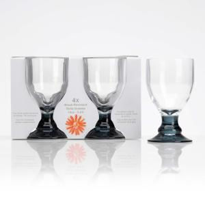 Flamefield Bella Acrylic Goblets With Black Stem 14oz / 410ml (4pc)