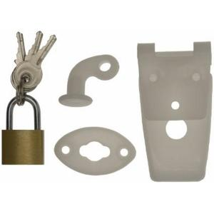 Gas bottle locker catch and padlock