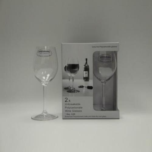 2x Unbreakable Polycarbonate Wine Glasses