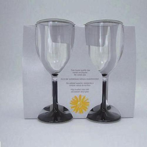 4x Break-Resistant Stemmed Wine Goblets