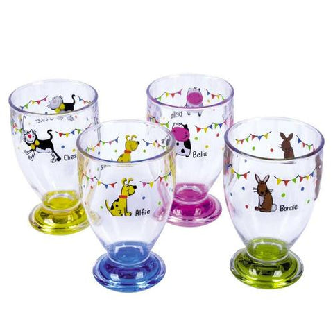 4 x break resistant tumblers- charlie and friends