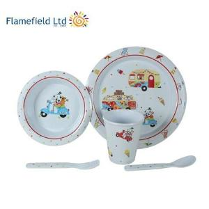 flamefield sparky and friends 5pc melamine set