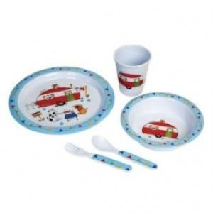 flamefield charlie and friends 5pc childrens melamine set