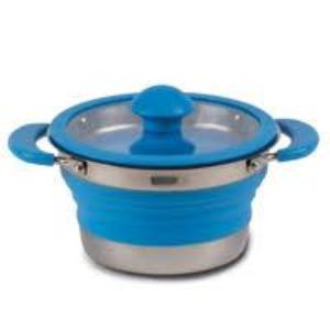 Kampa Collapsible Saucepan 1.0L - Blue or Grey