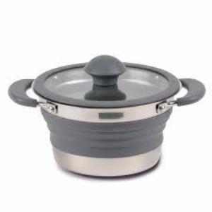 Kampa Collapsible Saucepan 3.0L - Blue or Grey
