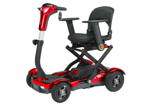 EV Rider TeQno Auto Folding Mobility Scooter with Laser Guide Lights