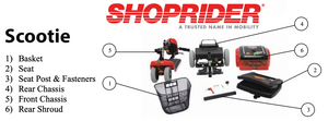 Shoprider Scootie Travel Mobility Scooter