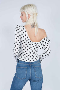 Polka dotty top