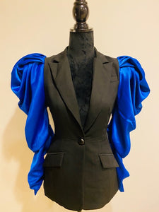 Blazin' Blues Balloon-sleeve Blazer