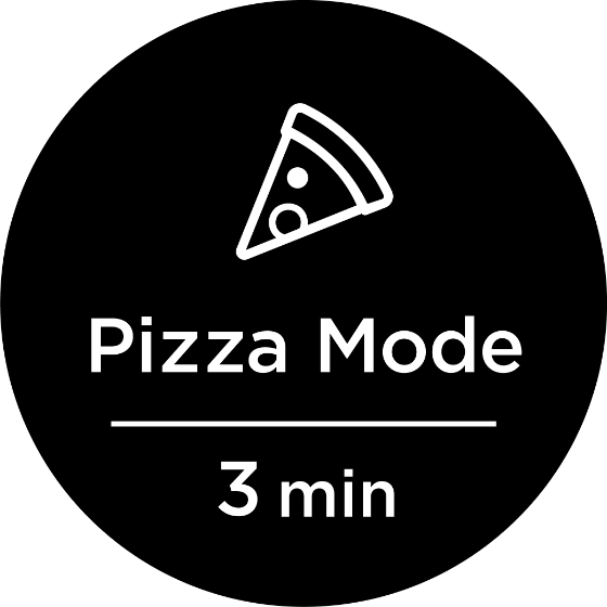 pizza mode for 3 minutes