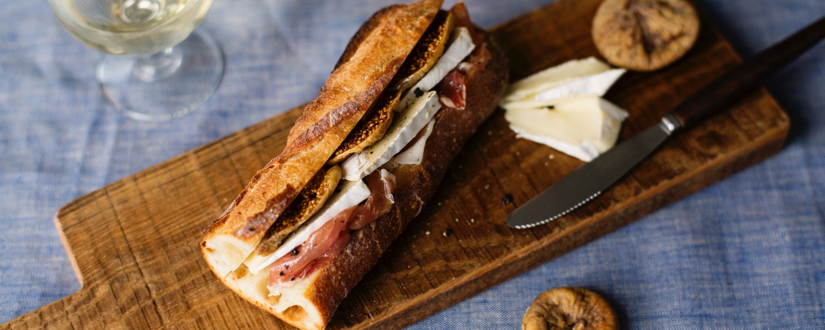 Brie and Prosciutto Sandwich