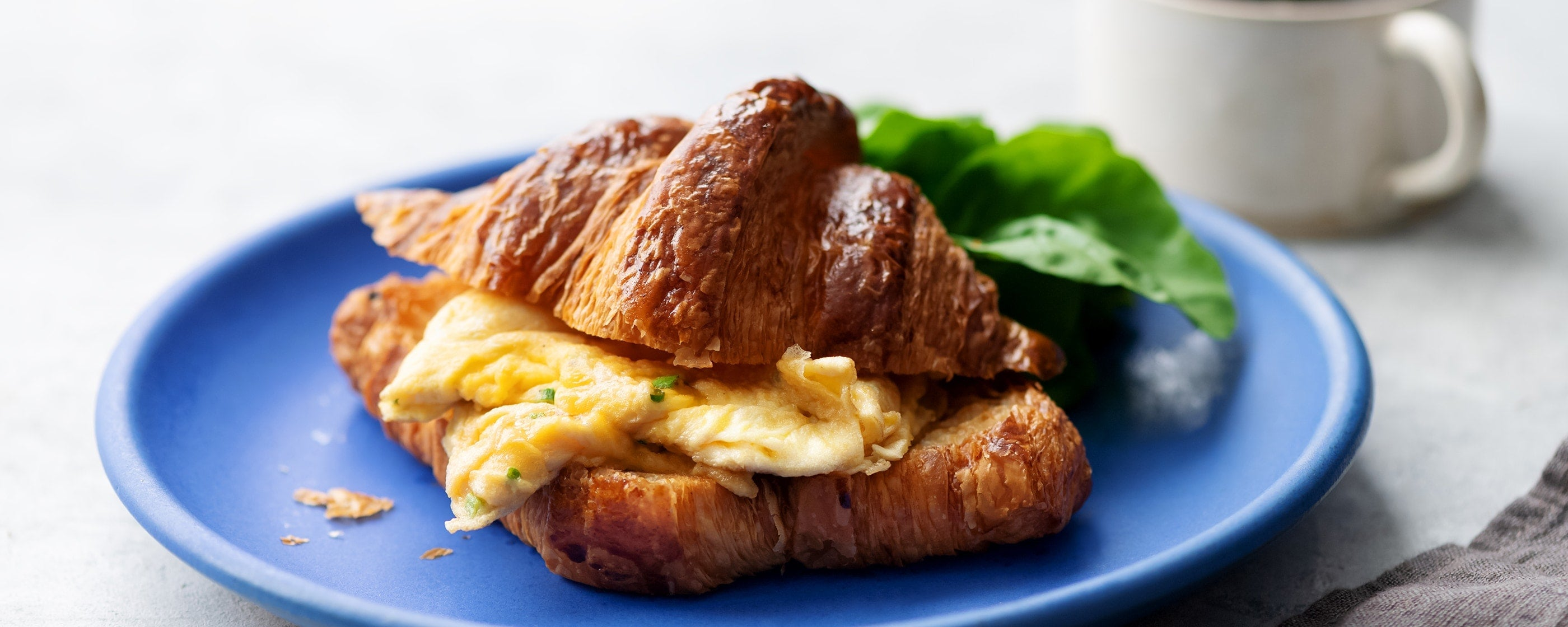 Croissant Sandwich with Egg