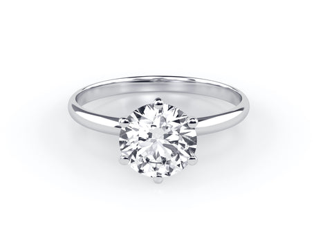 solitaire diamond engagement ring image