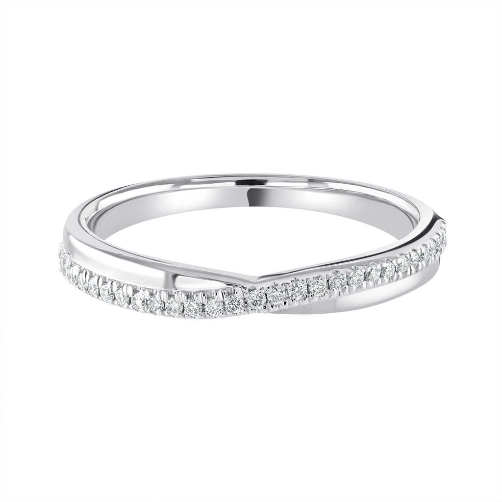 Crossover Wedding Ring Castle Set Platinum G/VS Diamonds