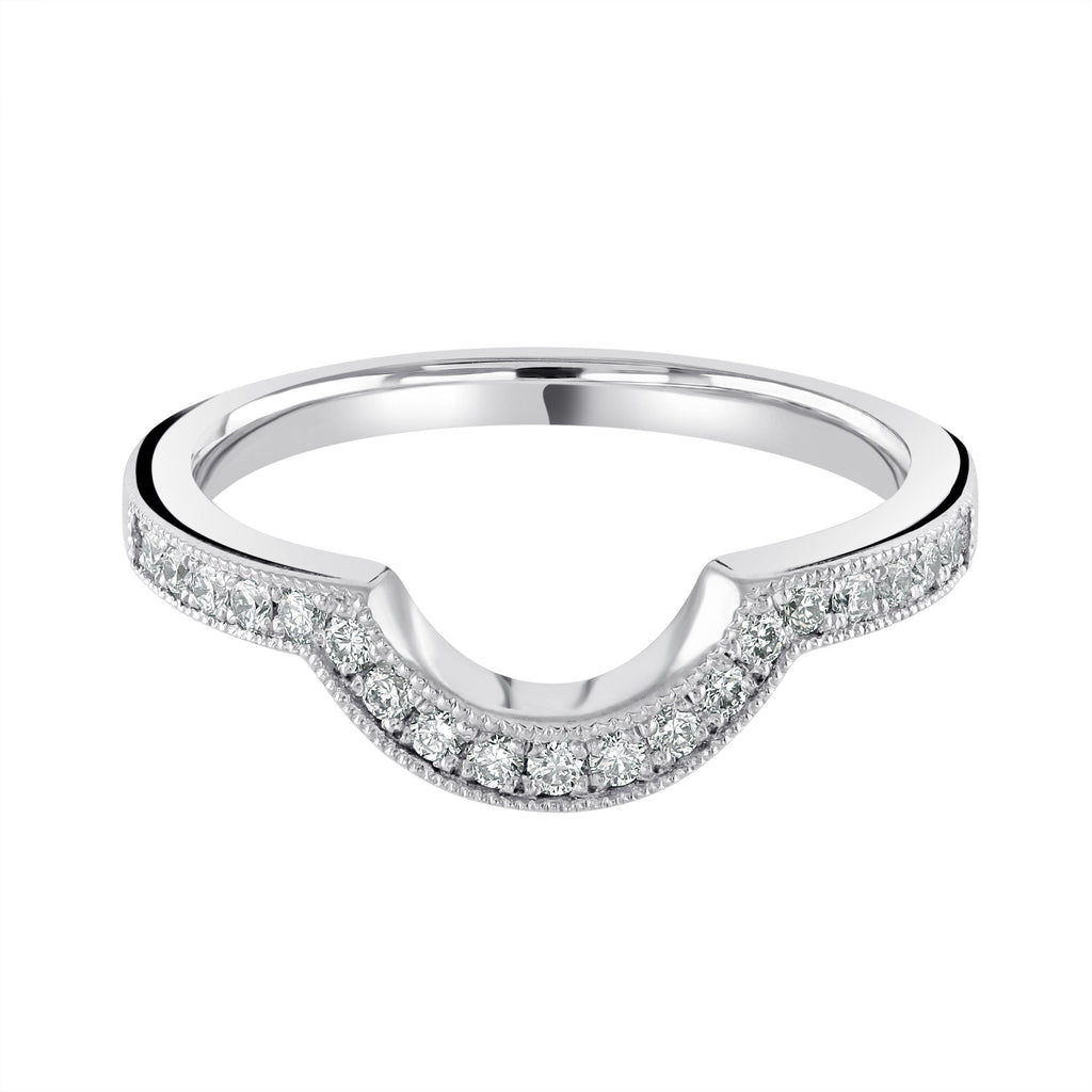 Grain Set Platinum Wedding Ring H/SI Diamonds