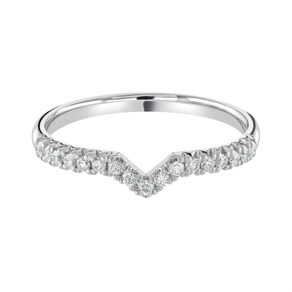 "Platinum Wedding Ring ""Fishtail Set"" H/SI Diamonds Half Eternity Design"