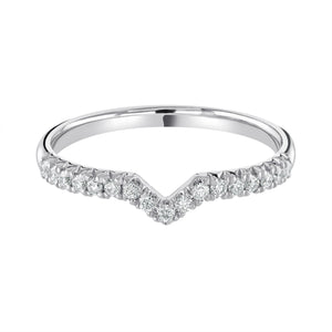 "Open image in slideshow, Platinum Wedding Ring ""Fishtail Set"" H/SI Diamonds Half Eternity Design"