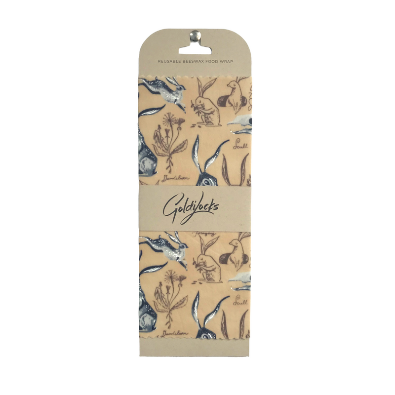 Beeswax Food Wrap Rabbit - Single