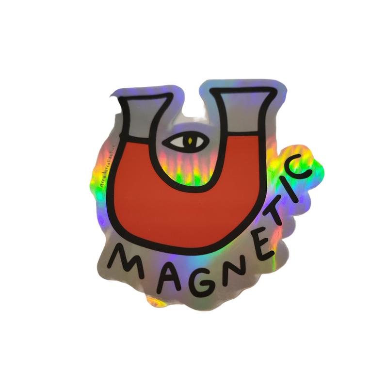 Magnetic Holographic Sticker
