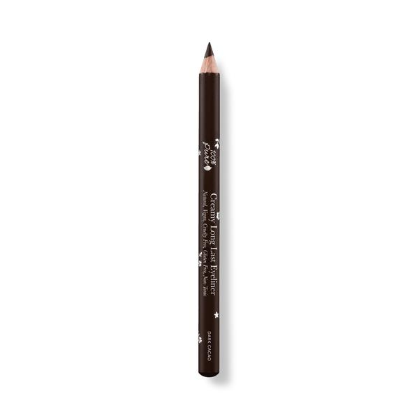 Creamy Long Lasting Eyeliner in color Dark Cacao. Its Natural, Vegan, Cruelty-Free, Gluten-Free and Non-Toxic