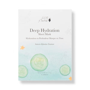 5 pack box of Deep Hydration Facial Sheet Masks which offer Intense Hydration Treatment for dry & mature Skin Types.