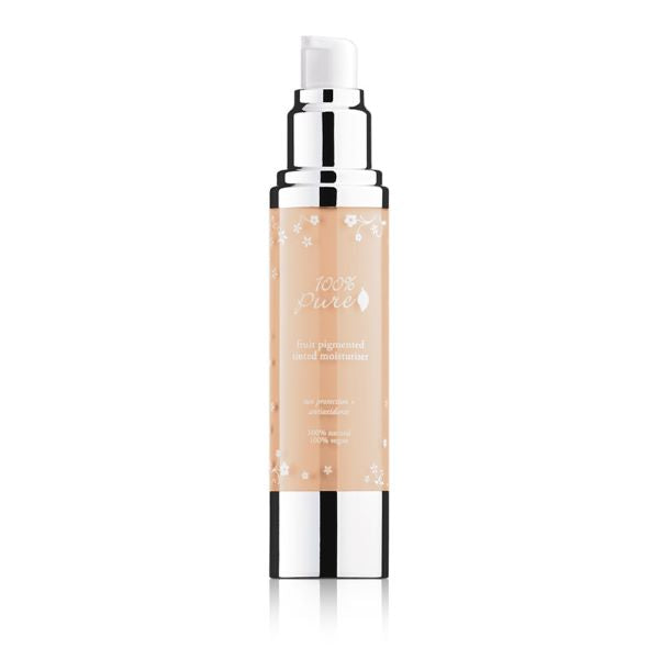 Light medium with neutral undertone, Sand, Fruit Pigmented Tinted Moisturizer, ultra lightweight tinted moisturizer formula leaves skin with a dewy, hydrated glow
