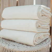 "Stack of Anact Hemp Towels. Size 55"" x 28"" Quick drying, Ultra absorbent, Sustainable  zero waste planet friendly"