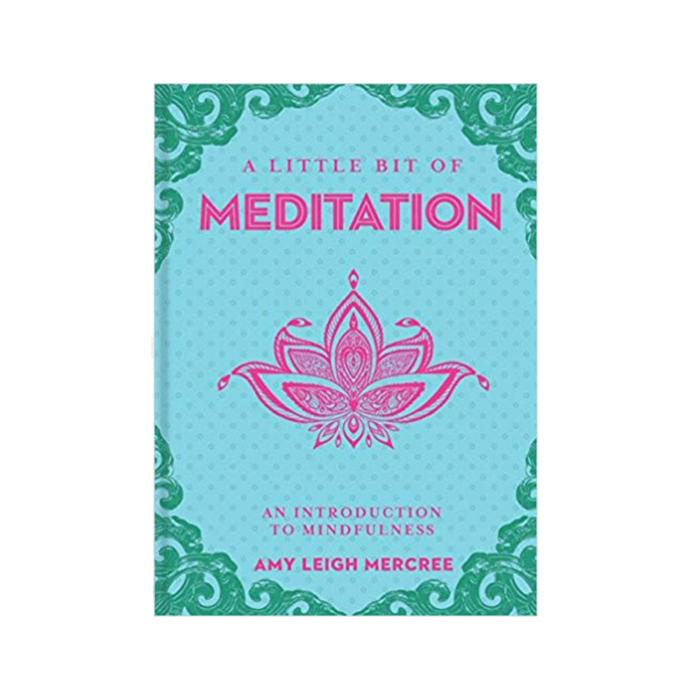 Little Bit of series hardcover book of easy to follow guided Meditations for Calming & Coping. Blue & green cover with pink lotus