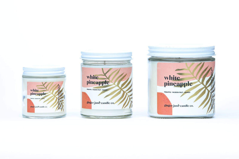 White Pineapple Soy Candle • TERRA COLLECTION