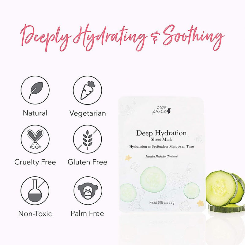 Deep Hydration Mask is Hydrating and Soothing, Natural, Vegetarian, Cruelty-Free, Gluten-Free, Non-Toxic, Palm Oil Free