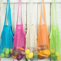 String Shopping Bag, Tropical Collection, Long Handle